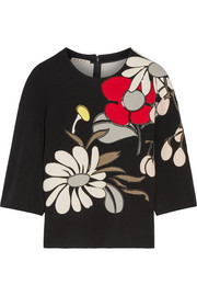 Marni Appliquéd ponte top