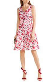 Oscar de la Renta Floral-print stretch-cotton dress