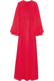 Giambattista Valli Cape-back silk-georgette gown