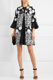 Giambattista Valli Embroidered tweed and guipure lace jacket