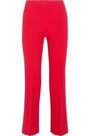 Giambattista Valli Cropped stretch-crepe flared pants