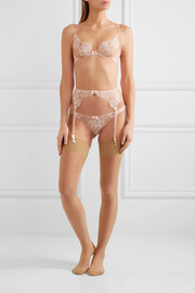 Angelica lace and stretch-tulle thong