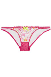 L'Agent by Agent Provocateur Ffion embroidered tulle briefs