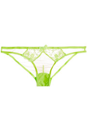 L'Agent by Agent Provocateur Bea embroidered tulle briefs