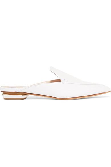 Beya Textured-leather Slippers - Tan Nicholas Kirkwood AbCHV