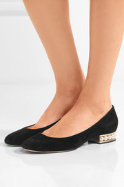 Casati faux pearl-embellished suede ballet flats