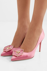 Nicholas Kirkwood Eden Jewel crystal-embellished satin pumps