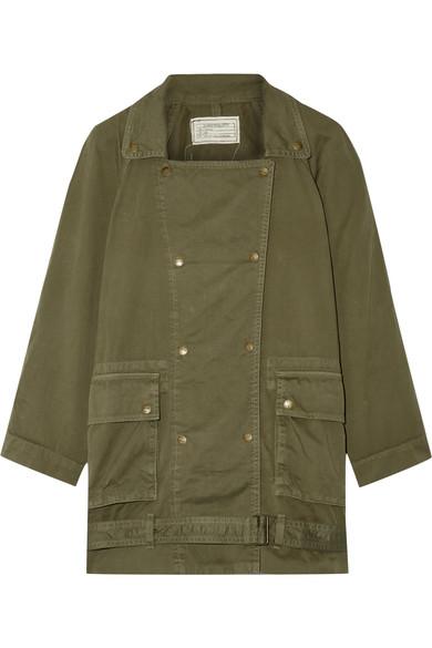 Current/Elliott - The Infantry Cotton-gabardine Jacket - Army green