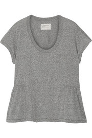 Current/Elliott The Girlie jersey peplum T-shirt
