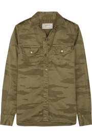 Current/Elliott The Perfect camouflage-print cotton-twill shirt