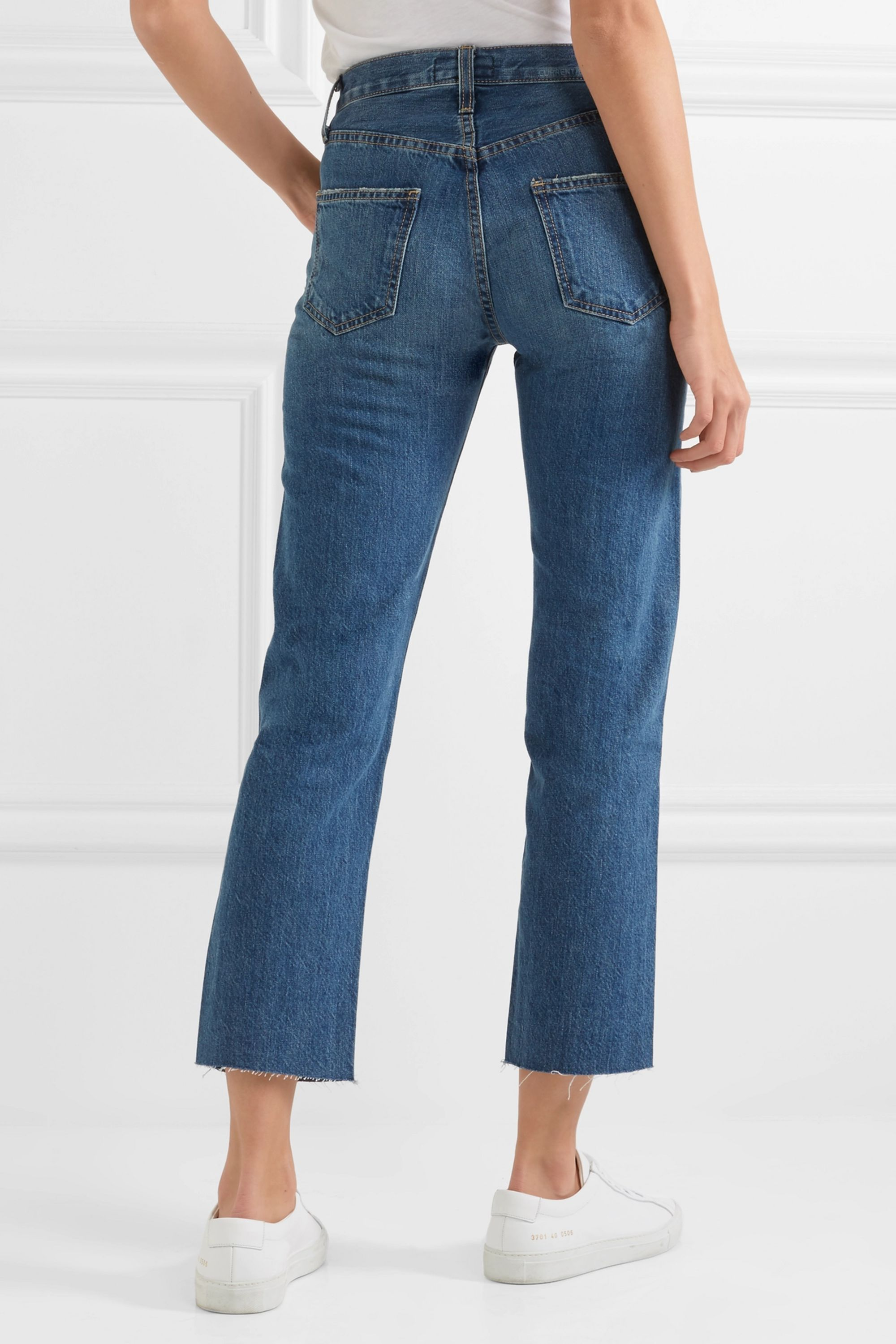 Current/Elliott The Original Straight cropped mid-rise jeans