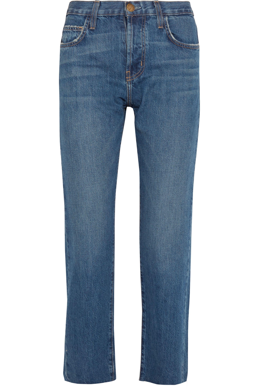 Current/Elliott The Original Straight halbhohe verkürzte Jeans