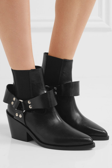 MM6 Leather Ankle Boots 4awFX