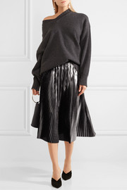 Jil Sander Pleated lamé midi skirt