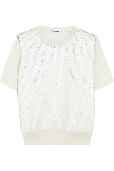 Jil Sander - Sequin-embellished Wool Sweater - Cream