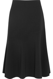 Jil Sander Fluted stretch-crepe skirt