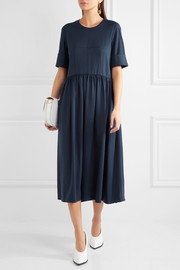 Jil Sander Cotton-blend jersey midi dress