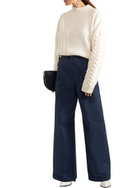 Jil Sander Cotton wide-leg pants