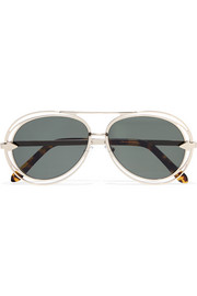 Jacques aviator-style gold-tone sunglasses