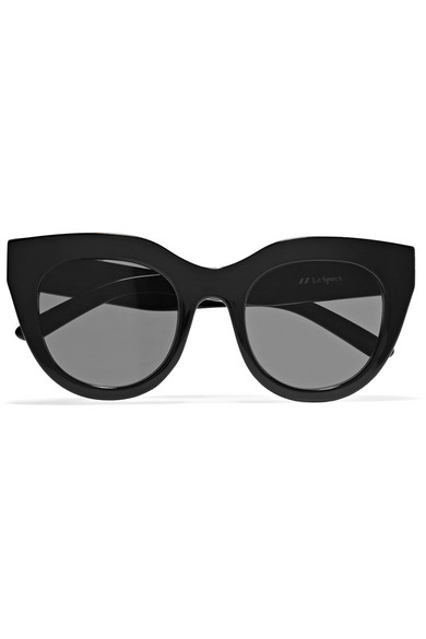 Le Specs - Air Heart Cat-eye Acetate Sunglasses - Black
