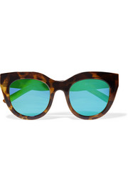 Air Heart cat-eye acetate mirrored sunglasses