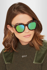 Le Specs Air Heart cat-eye acetate mirrored sunglasses