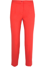 Cropped crepe slim-leg pants