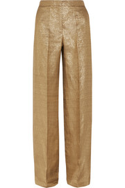 Lamé wide-leg pants