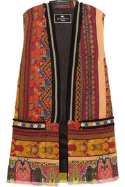 Etro Embellished embroidered cotton-blend tweed gilet