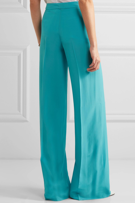Etro Silk crepe de chine wide-leg pants