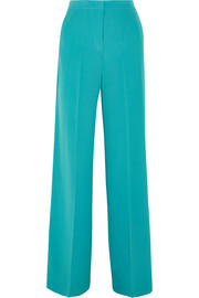 Silk crepe de chine wide-leg pants