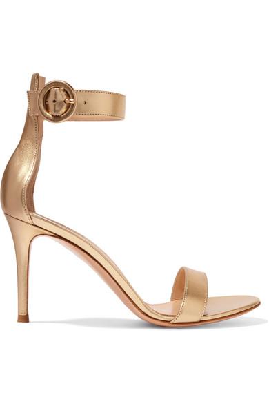 Gianvito Rossi Sandals Portofino 85 metallic leather sandals