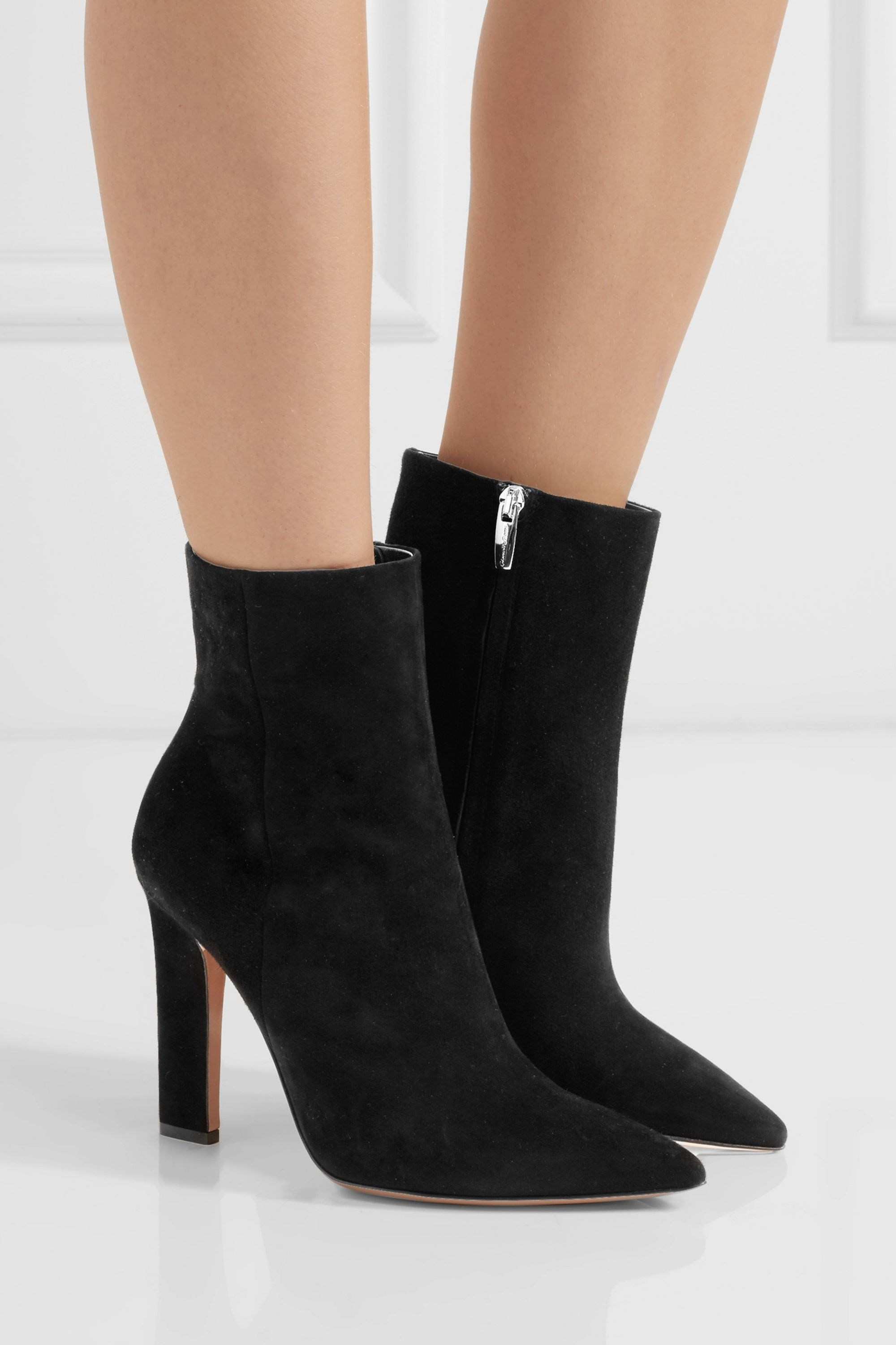 Gianvito Rossi 105 suede ankle boots