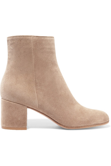 Gianvito Rossi Margaux 65 Ankle Boots aus Veloursleder