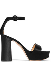 Gianvito Rossi Satin platform sandals