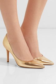 Gianvito Rossi 85 metallic leather pumps