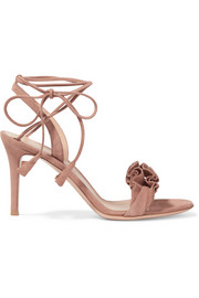 Gianvito Rossi Ruffled suede sandals