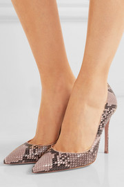 Gianvito Rossi Python point-toe pumps
