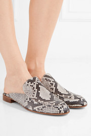 Gianvito Rossi Python slippers