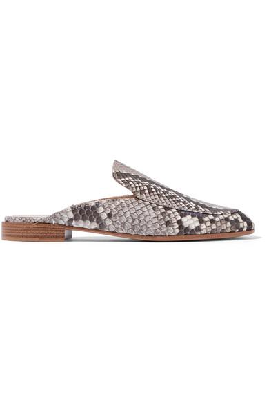 Gianvito Rossi - Python Slippers - Snake print