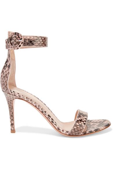 Gianvito Rossi - Portofino Python Sandals - Snake print