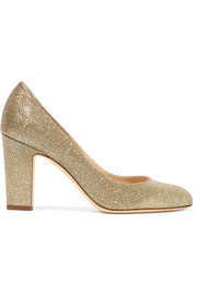 Jimmy Choo Billie textured-lamé pumps