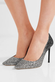 Jimmy Choo Romy dégradé glittered leather pumps