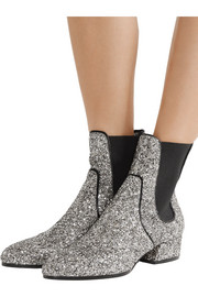 Jimmy Choo Monty glittered-leather Chelsea boots