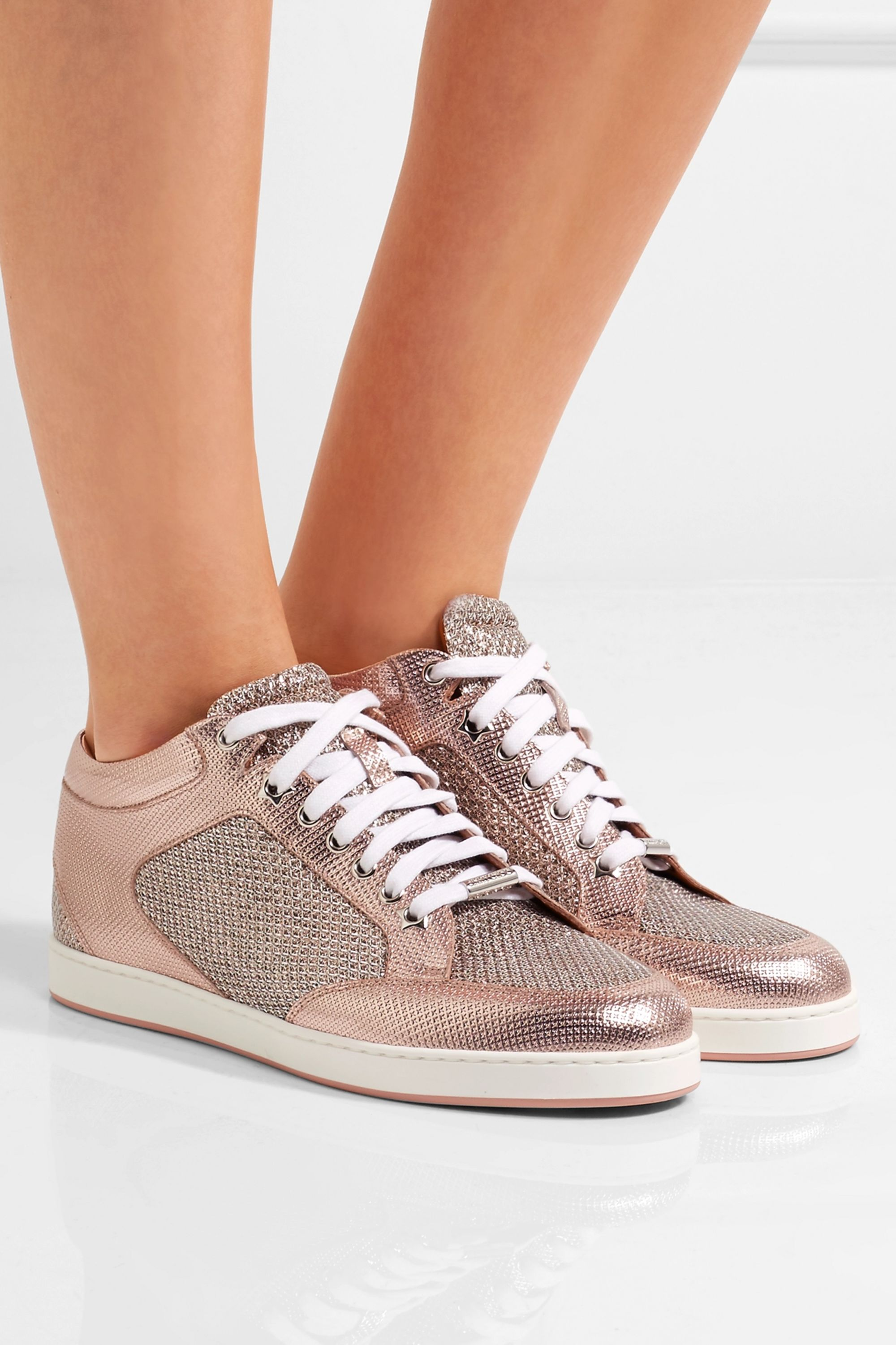 Pink Miami glittered mesh and embossed