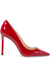 Jimmy Choo Romy 100 patent-leather pumps