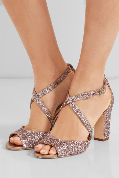 Glittered Carrie Carrie Carrie Leather Glittered Sandals Glittered Sandals Leather Leather BxCeQrdoW
