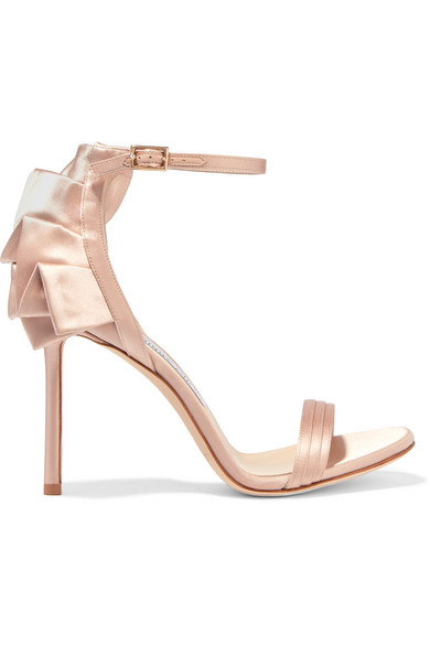 Jimmy Choo Leather Ruffle Sandals manchester great sale cheap price free shipping 2014 cheap price original hot sale sale online ISOgNhi