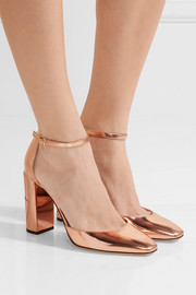 Jimmy Choo Mabel mirrored-leather pumps