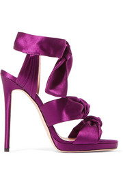 Jimmy Choo Kris knottted satin sandals
